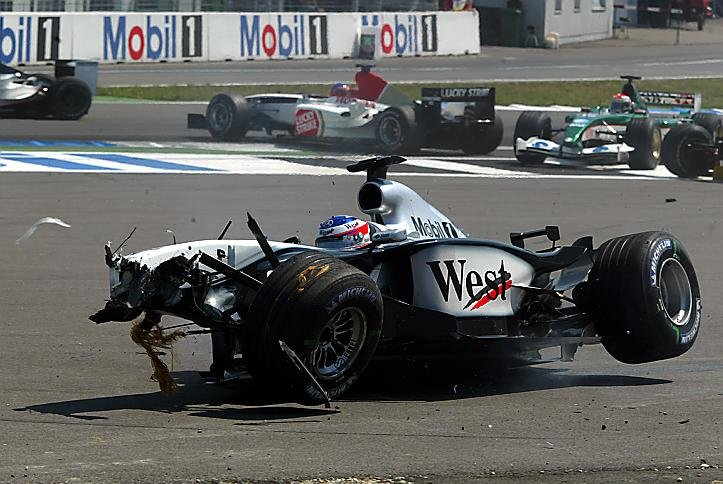Kimi's last lap in Germany 2005