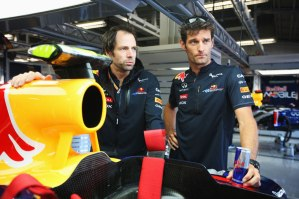 Ciaron Pilbeam and Mark Webber