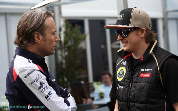 Adam Parr, Kimi Raikkonen, Australian Grand Prix- Thursday - 2012