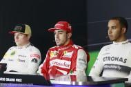 Kimi Raikkonen, Fernando Alonso, Lewis Hamilton