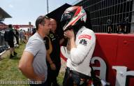 Sebastian Loeb, a friend of Kimi's during WRC, visits the Iceman for a quick chat