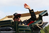 Waving to the crowd Iceman style