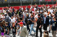Heading to the drivers parade