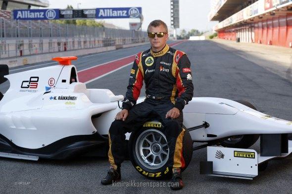 Kimi Raikkonen Tests the GP3-13 Car