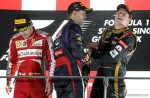 Sebastian Vettel, Fernando Alonso, Kimmi Raikkonen