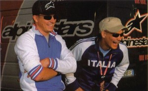 Kimi with Vilander in 2003