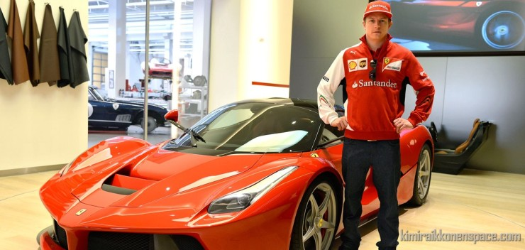 Kimi with the LaFerrari