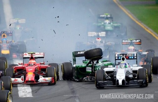 Close call at the race start