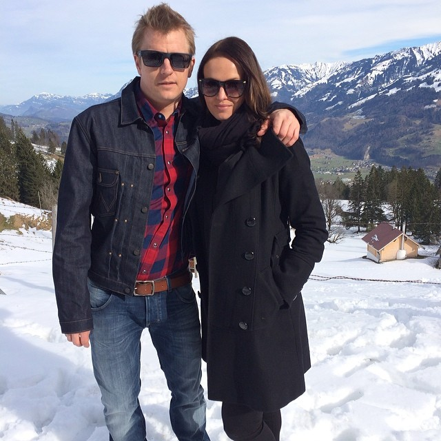 Kimi Raikkonen with beautiful, Girlfriend Minttu Virtanen