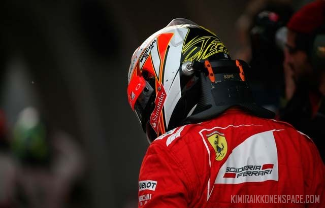 Kimi after the Chinese GP 2014