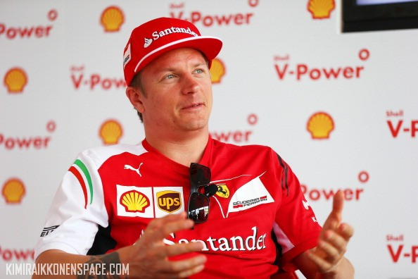Kimi Raikkonen at a Shell event this year