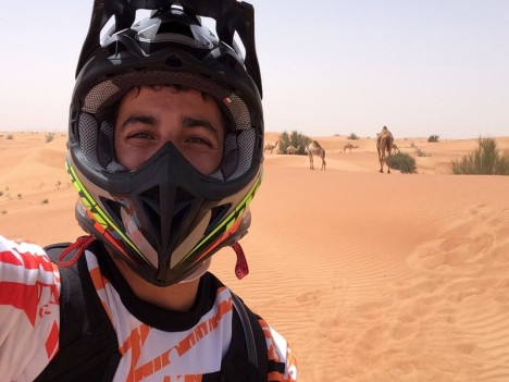 "Daniel Ricciardo: "" Being in the middle of the desert – it's a peaceful yet exciting experience. One that involved the odd camel too!"""