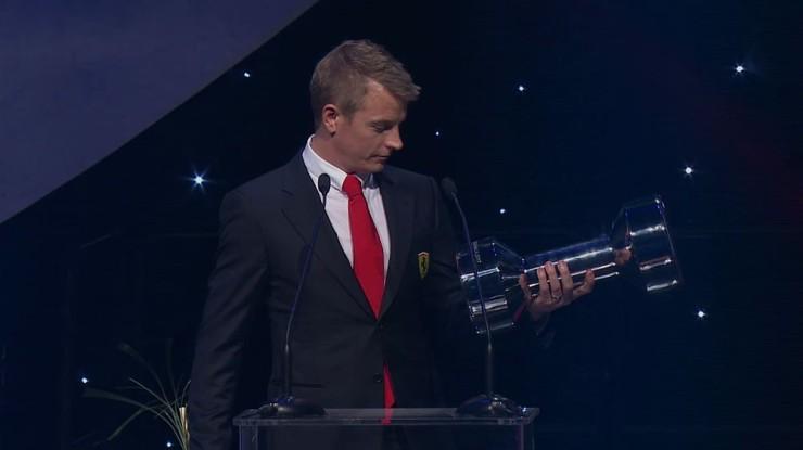 Kimi Raikkonen Sports Ambassador Finland 2017 Award